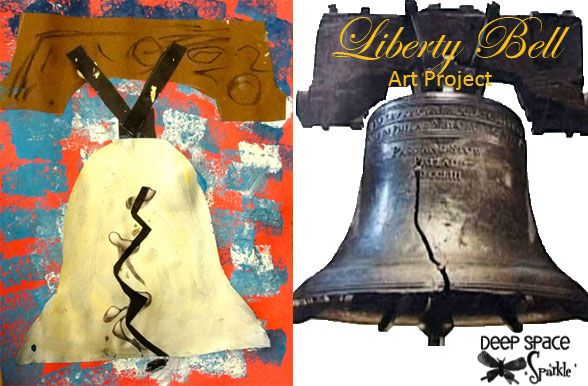 Liberty Bell Art Project- this art teacher is awesome!Kindergarten Art Lessons, Liberty Belle Art Lessons, Grade Art, Deep Space Sparkle, Deep Spaces, First Grade, Art Projects, Patriots Symbols, Liberty'S Belle Art Lessons