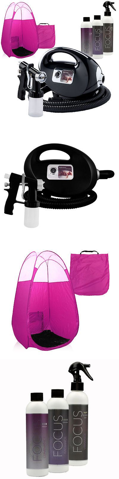 Airbrush Tanning Kits: Black Fascination Fx Spray Tanning Machine With Focus Tan Solution And Pink Tent -> BUY IT NOW ONLY: $219 on eBay!