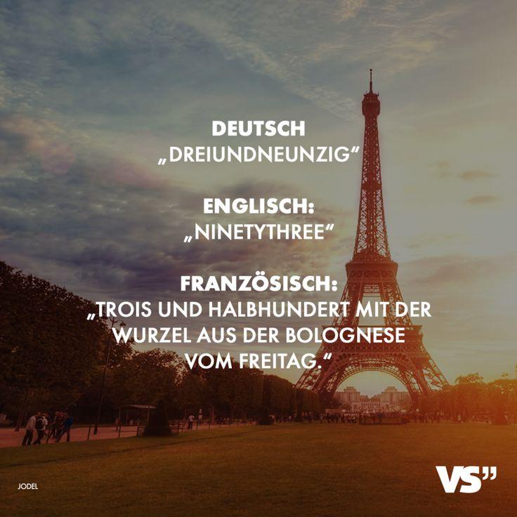 Visual Statements®️ Deutsch: Dreiundneunzig Englisch:Ninetythree Französisch...