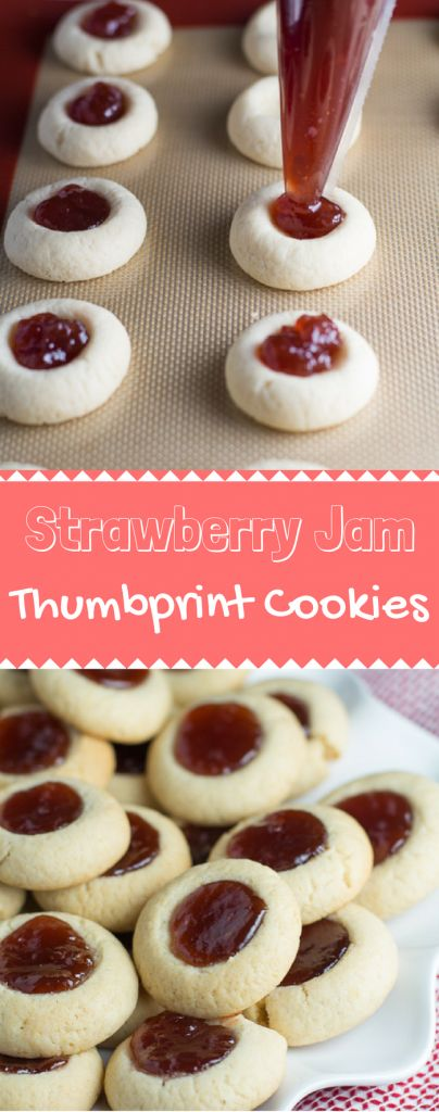 Strawberry Jam Thumbprint Cookies Jam Thumbprint Cookies