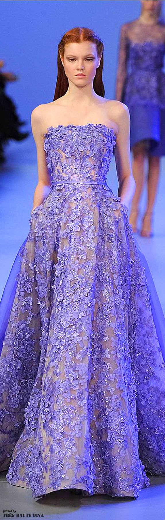 Elie Saab Spring 2014 Couture - LOVE this dress but the model looks like she hates it