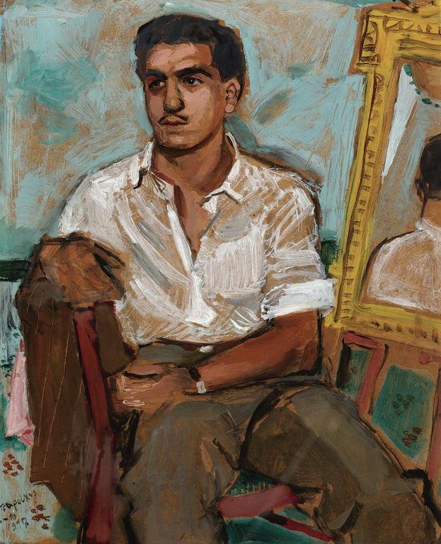 Τσαρούχης Γιάννης-PORTRAIT OF A SEATED MAN, 1947 – Yannis Tsarouchis [1910-1989]   paletaart – Χρώμα & Φώς