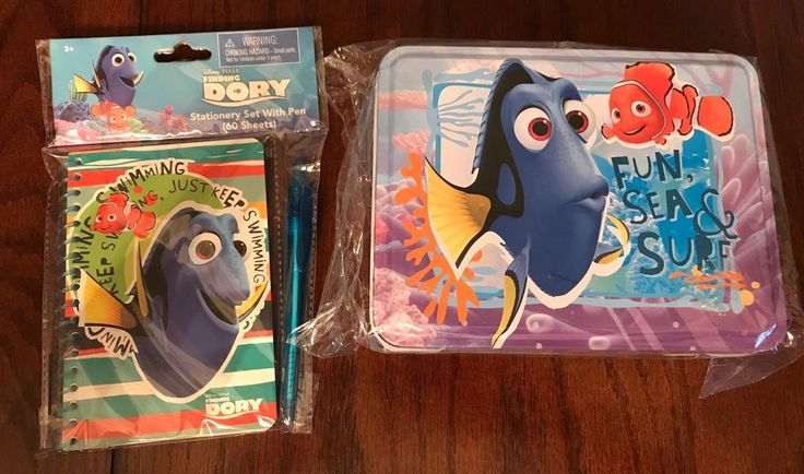 Disney Pixar Finding Dory Tin Lunch box Collectible + Stationery Set w/Pen NEW #DisneyPixar