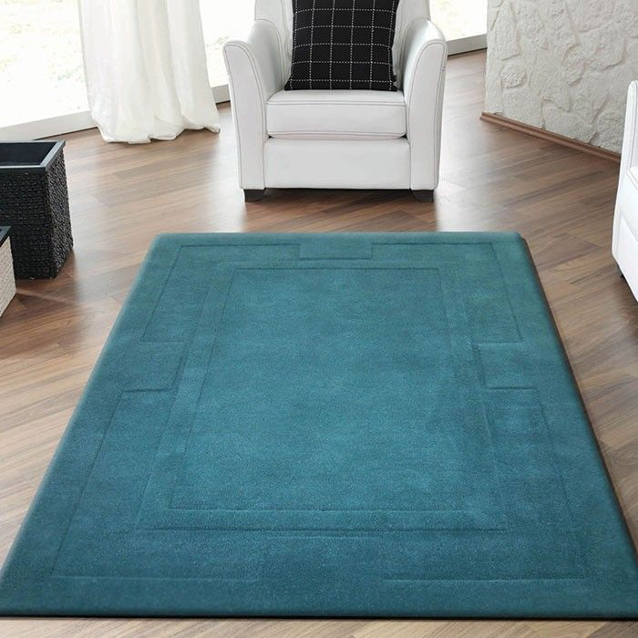 Le Rugs Apollo Teal Blue Rug A Thick Heavyweight Wool In Contemporary Colour The Has Very Deep And Soft Pile