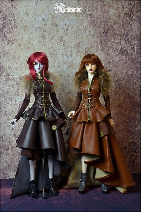 BJD dolls Steampunk Fashions for Iplehouse, custom order ships from China, by Nalisinko on Etsy, $150.00