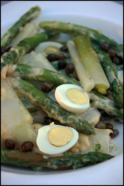 Salade d'asperges et poireaux
