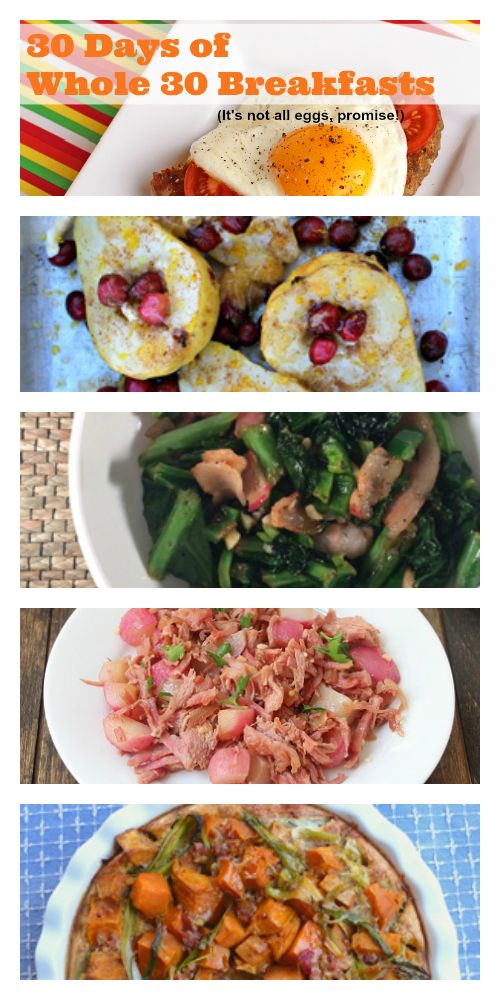 30 Days of Whole 30 Breakfasts - that aren't all eggs! http://meatified.com
