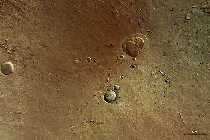 Hecates Tholus, the northernmost volcano of the Elysium volcano group.