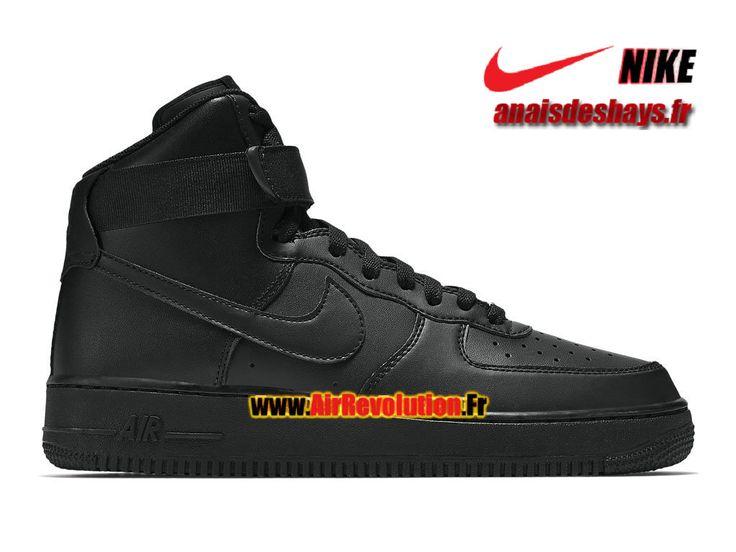 Boutique Officiel Nike Wmns Air Force 1 High 08 LE Femme/Garçon Noir/Noir 334031-032