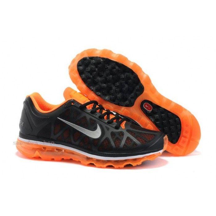#Nike #sports Nike Shox Shoes, Nike Mens Shoes Buy Nike Air Max 2011 Mens Shoes Black Silver Orange 72