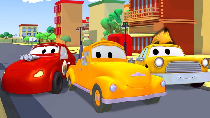 Tom la Grúa : Taxi, Coche de Carreras, Bulldozer, Camión de Bomberos, Ambulancia, Carro de policia.