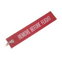 Nøkkelring Remove before flight