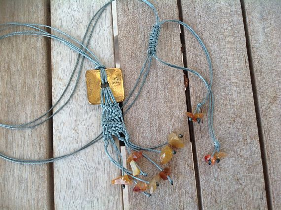 Handmade one of a kind long necklace with by OutOfTheCageCrafts