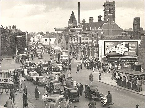 Old Pictures From the 1950s | Outside the old fire station in the early 1950s, before BBC Coventry ...