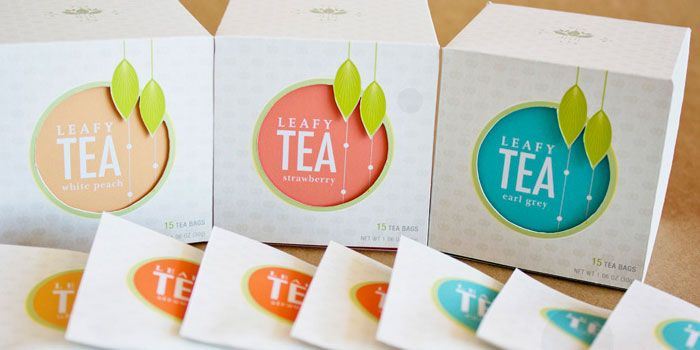 Leafy Tea - Packaging design concept for a hypothetical tea company - Designed by Belinda Shih