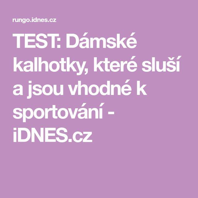TEST: Dámské kalhotky, které sluší a jsou vhodné k sportování - iDNES.cz