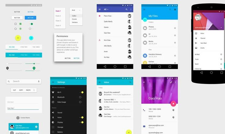 Android 5.0 UI Kit by Ever Studio