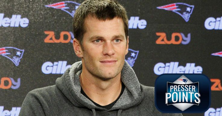 Tom Brady's press conference featured plenty of talk about the Steelers and the quarterback's lack of interest in technology.