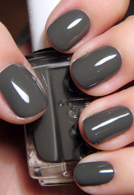 20 Fabulous Fall/Winter Nail Trends: #17. Slate Nail Polish