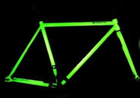 Glow-in-the-dark solar bikes = rad