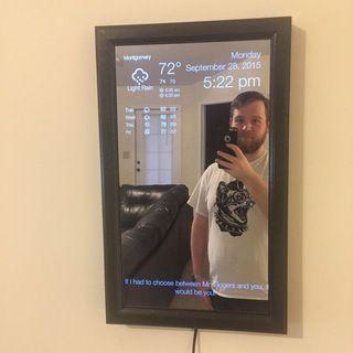 """Magic mirror"" using Raspberry Pi"