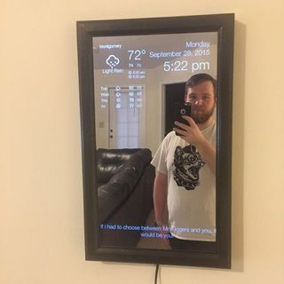 """Magic mirror"" using Raspberry Pi"