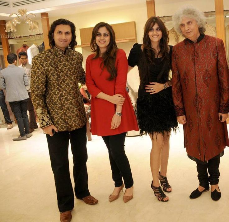 "launch of ""Love in Paris"" for Aza Men  http://barkhansonzal.com/html/barkha-n-sonzal.html"
