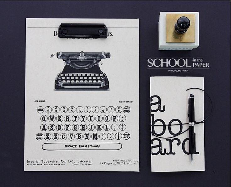 stationery Typewriter stamp montblanc aboard SCHOOLINTHEPAPER www.schoolinthepaper.kr
