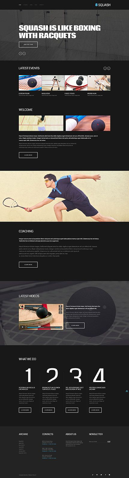 Squash Club #website #template. #themes #business #responsive