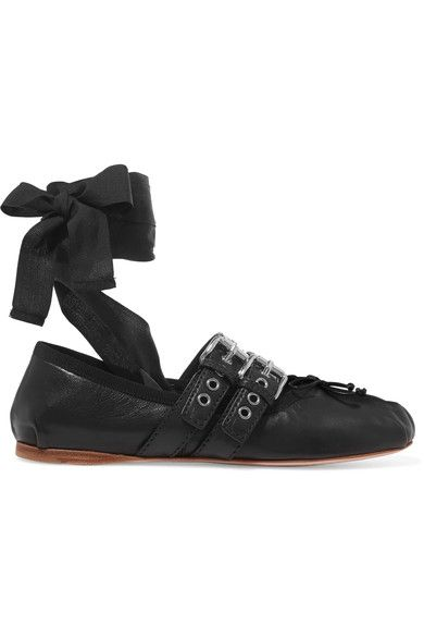 Slight heel Black leather Ties at ankle Made in Italy