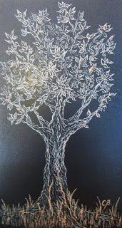 Árbol de la Vida V, tallografía 32 * 20 cms, @copyright Carolina Busquets.