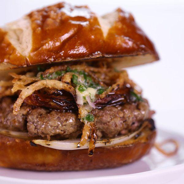 Andrew Zimmern's Lamb Butter Burger! #TheChew #Burger