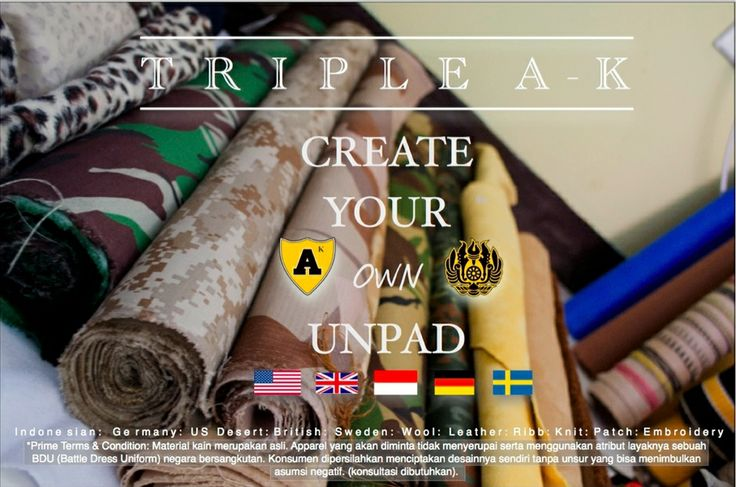 Genuine Camouflage. Leather. Woo. Ribbed  If you would create your own collection about UNPAD, please contact our customer assistance.   'AK makes you and your family love about Unpad, more'