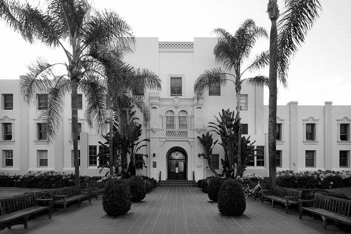 Loyola Marymount University; Xavier Hall; Elegant b&w image carefully processed to capture the best aspect of this campus icon. by UniversityIcons on Etsy