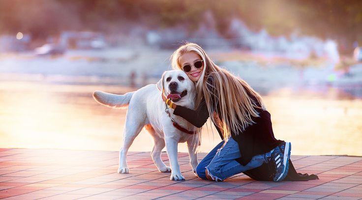 Portrait. Girl and dog   Ph. Pavel Skvortsov