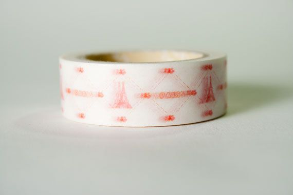 Washi Tape Red Eifel Tower Paris by HexagonInc on Etsy, $3.50