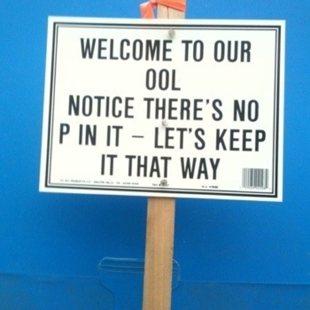 Summer Pool Party Rules--too Funny!