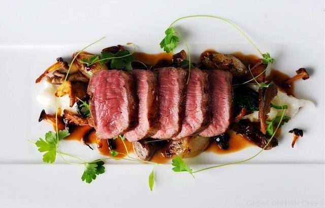 Lamb Loin Recipe With Parmesan Risotto: You will love the rich flavors of this lamb loin recipe, paired with a creamy Parmesan risotto and wild mushrooms