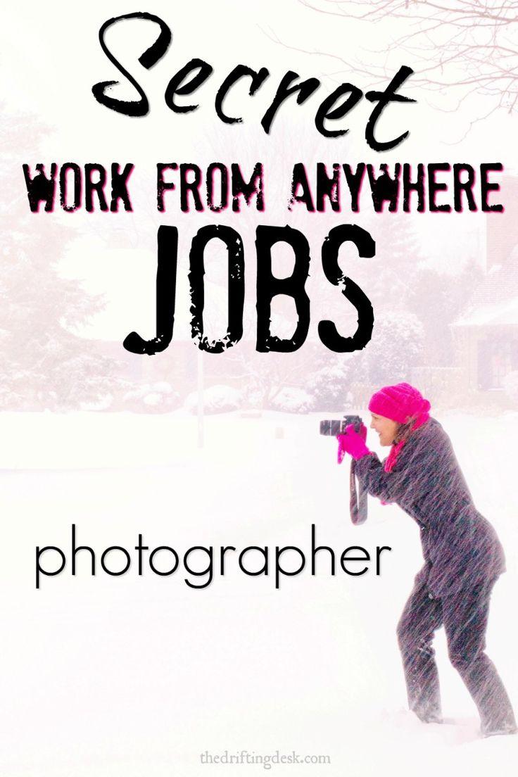 Secret Work From Anywhere Jobs – Photographer