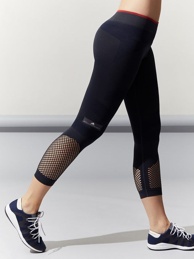 571391d2543a6 ADIDAS BY STELLA MCCARTNEY Training Seamless 3/4 Tight Night Grey CAPRIS  FitnessApparelExpress.com ♡ Women's Workout Clothes | Yoga Tops | Sports  Bra ...