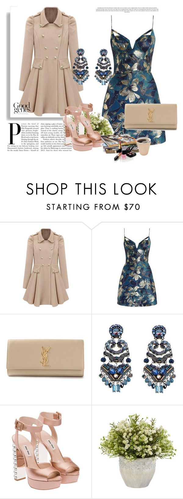 """Gabardina Beige"" by any-dazaperez ❤ liked on Polyvore featuring Zimmermann, Yves Saint Laurent, Ayala Bar, Miu Miu, Nearly Natural and Chanel"