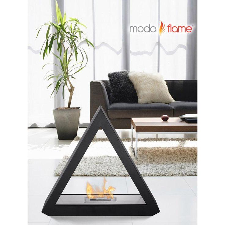 Moda Flame Burgos Free Standing Floor Indoor Outdoor Ethanol Fireplace