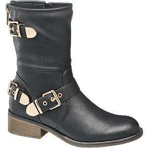 Deze gave enkellaars met gouden verstelbare gespen vind je nu via Aldoor met €10,- korting! Nog meer leuke enkellaarsjes in de uitverkoop vind je bij ons.#sale #mode #schoenen #dames #vrouwen #gesp #gouden #detail #zwarte #laarzen #boots #fashion #women #golden #buckle #shoes