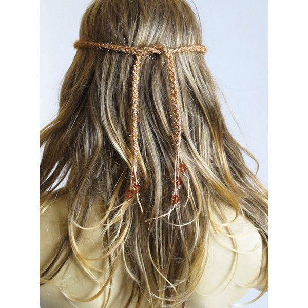 Crochet Headband Boho bohemian Hairband Hippie Hair Accessories beaded... (140 VEF) ❤ liked on Polyvore featuring accessories, hair accessories, beaded headband, head wrap headband, crochet headbands, crochet headwrap and hippie hair accessories