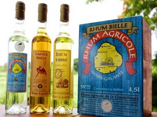 World renowned rum of the island of Marie Galante