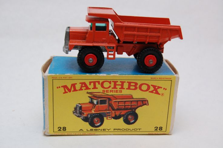 No.28 Mack Dump Truck w/Original Box by Matchbox Lesney England 60's toy Car Great Gift Idea Stocking Stuffer  for Dad by RememberWhenToys on Etsy