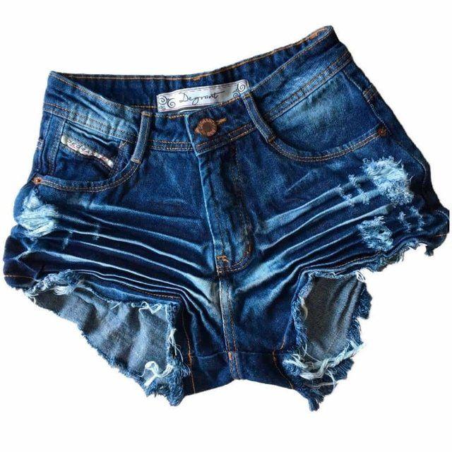 fd8578250 Shorts Jeans escuro