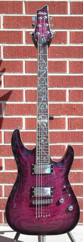 Schecter DIAMOND SERIES PROTOTYPE C-1 Classic See Thru Purple Burst 2014 6-String Electric Guitar