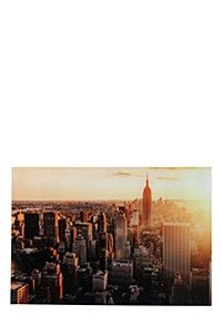TEMPERED GLASS CITYSCAPE 60X90CM WALL ART