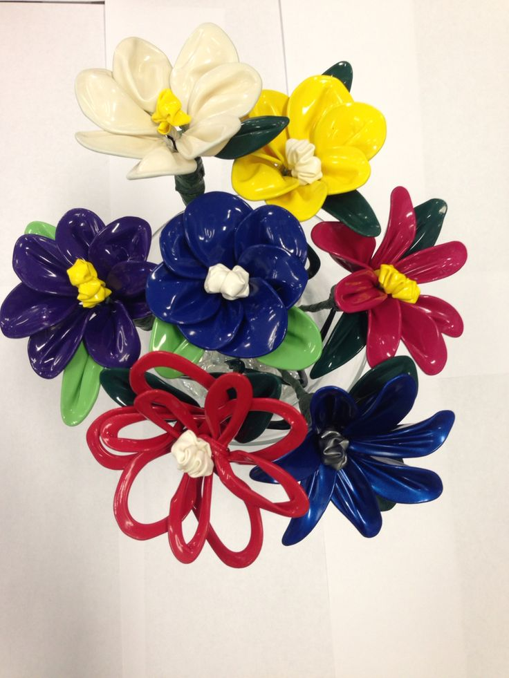 Beautiful balloon flower centerpiece!